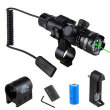 Powerful Tactical Green /Red Dot Laser Sight Rail Barrel Scope Mount Remote Pres
