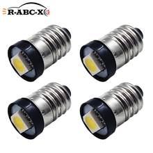 Ruiandsion 4 pièces 3V 6V 12V 24V lumière vis 5050 1LED ampoules E10 xénon blanc chaud 4300K jaune baïonnette Style schroef lampe