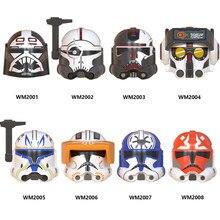 Venda única série de filmes clone 99 wrecker crosshair caçador bad team rex figuras de ação acessórios capacete blocos de construção brinquedos