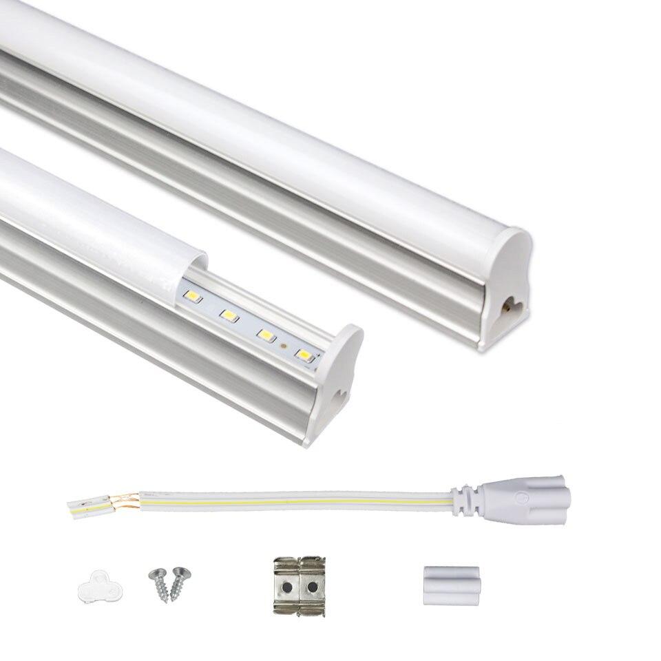 LED Tube T5 Lumière 29CM 57CM 220V ~ 240V Tube fluorescent LED LED T5 lampe à LED 6W 10W Lumière Blanc Froid Lampara Ampoule En Plastique PVC