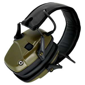 Image 3 - Foldable green electronic shooting earmuffs outdoor sports anti noise sound amplification hearing protection headphones