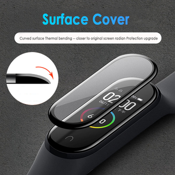 1/2/3/5Pcs 3D Protective Glass for Xiaomi Mi Band 4 5 6 Screen Protector for Miband 5 4 Cover Smart Watchband 4 band5 Soft Film 2