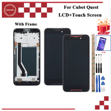 ocolor For Cubot Quest LCD Display and Touch Screen Digitizer Assembly For Cubot Quest Screen With Frame +Film+ Tools + Adhesive