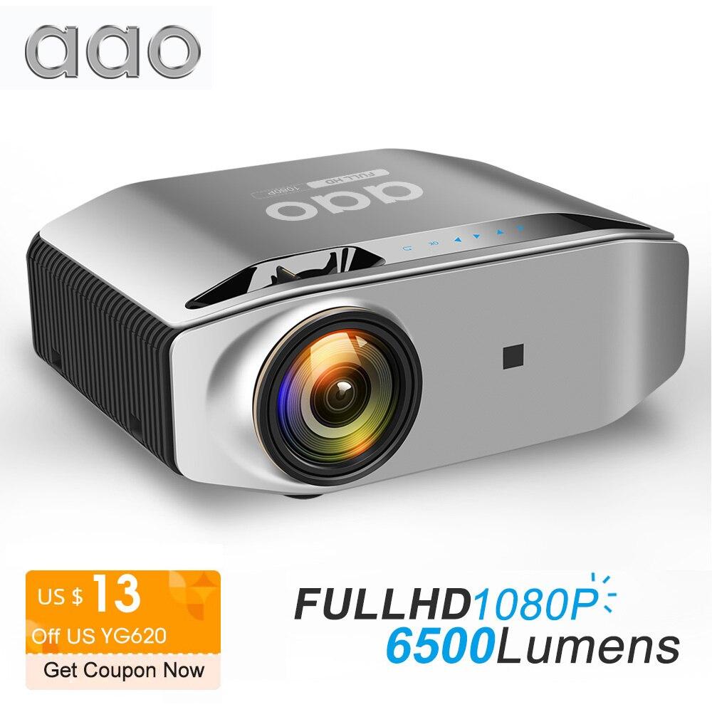 AAO нативный 1080p Full HD проектор YG620 светодиодный проектор 1920x1080 P 3D видео YG621 беспроводной WiFi многоэкранный проектор домашний кинотеатр