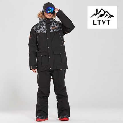 StormRunner Marke Ski Anzug Männer Snowboard jacken + Hosen Warm NEUE Schnee Mantel Atmungs Bunten Camouflage Männlichen Ski Sets