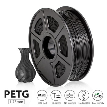 PETG Filament 1kg 1.75mm Tolerance +/-0.02mm 320m/Roll Translucent Good Toughness Non-toxic Printing Material for FDM 3D Printer image