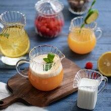Mini Glass Mug Milk Can Pouring Coffee Cream Sauce Jug Barista Craft Coffee Latte Milk Frothing Jugs Pitcher