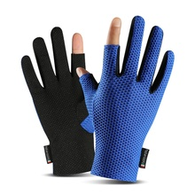 Fishing-Gloves Finger Ice-Silk Anti-Slip 2-Cut Sunshade Elastic Breathable High-Quality