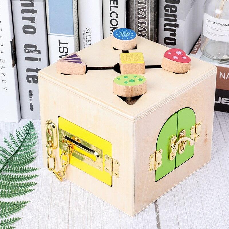 Boîte de déverrouillage multifonction Montessori aides pédagogiques blocs de construction bébé préscolaire apprentissage jouets éducatifs pour les tout-petits apprenant - 2