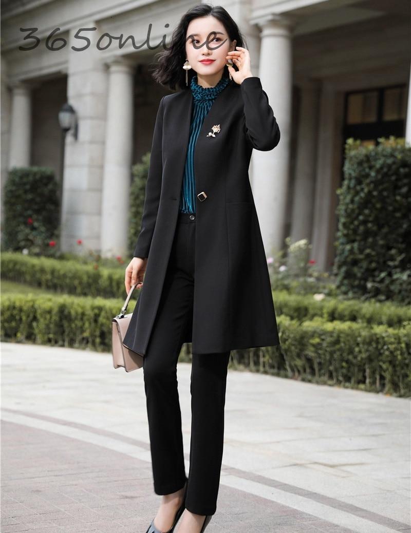 Fashion Uniform Styles Professional Business Suits for Women Office Work Wear Blazers Set Pantsuits Autumn Winter Outfits Set 26