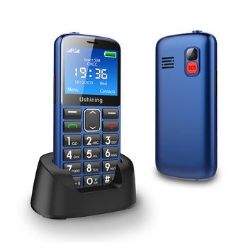 2G Big Button Mobile Phone for Elderly, Unlocked Senior With SOS Emergency Button,HAC Compatible Charging Dock-BLUE - discount item  30% OFF Mobile Phones