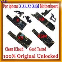 64GB 128GB 256GB con ID de cara/sin ID de cara para iPhone X XR XS Max placa base desbloqueada, 100% Original para iphone x r placa lógica