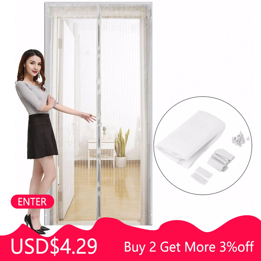 OUTAD Summer Anti Mosquito Insect Fly Bug Curtains Net Automatic Closing Door Screen Kitchen Curtain Drop Shipping