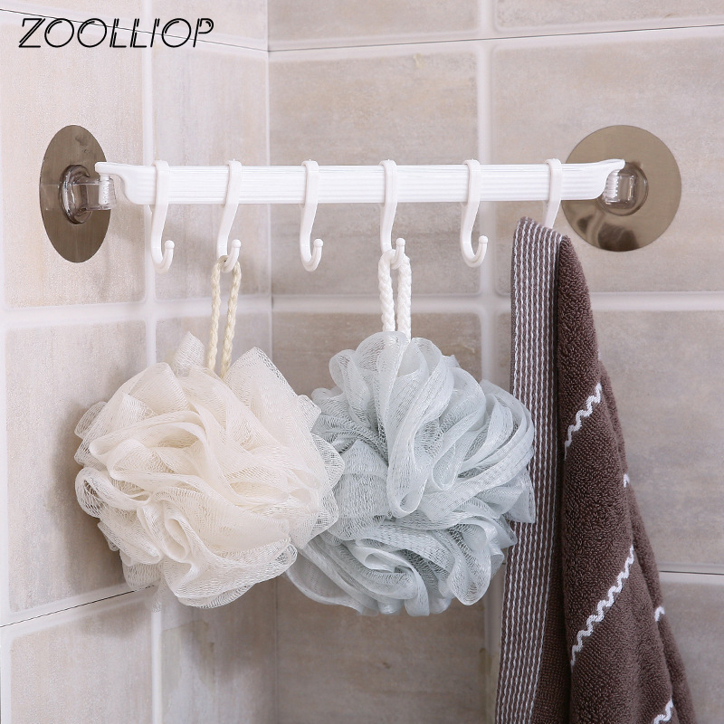 Rustproof Bathroom Tools Organizer Towel Holder Key Hooks Kitchen Organizer Cupboard Storage Rack Shelf