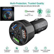 Quick Charge QC 3 0 USB Charger 3 Port Dual Car-Charger 3 1A Fast Car Chargers Adapter Charging for iPhone Samsung Huawei Xiaomi cheap XEDAIN 2 A Ports 3 A Ports Car Lighter Slot ROHS Quick Charge QC 3 0 USB Phone Car Charger Qualcomm Quick Charge 3 0 9V 2A