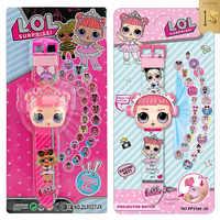 LOL poupées surprise 3D Projection dessin animé enfants montres Figure d'anime éducatif petits enfants garçons filles horloge jouets pour enfants
