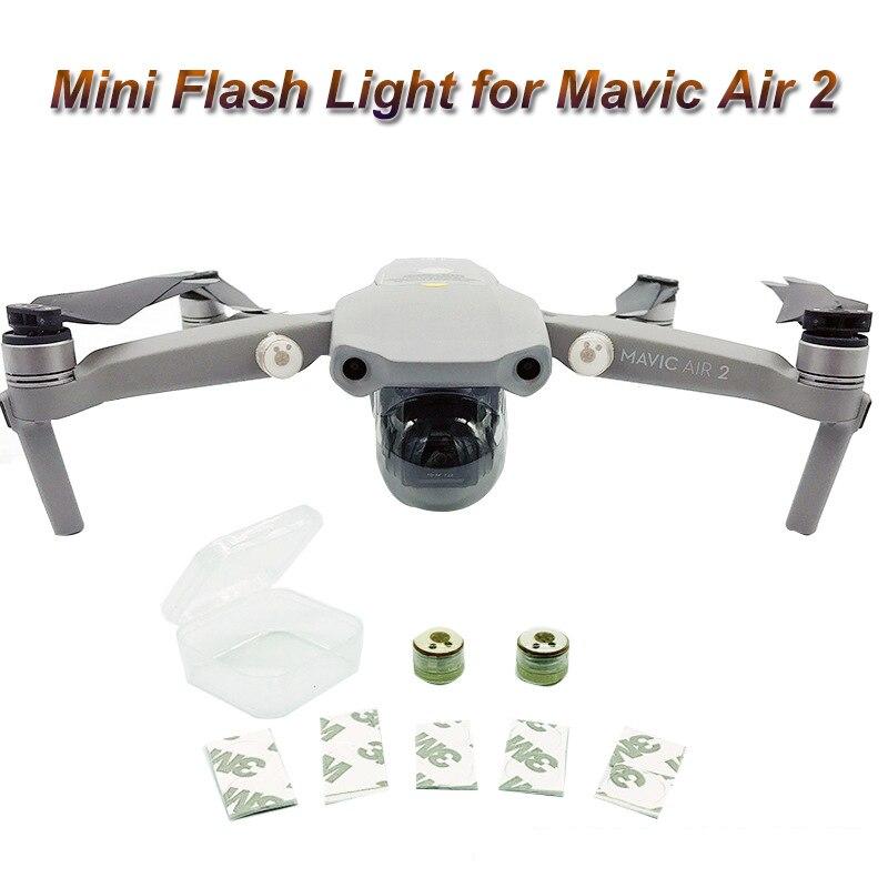2Pcs LED Flash Lights For Mavic Air 2 Mini Strobe Light Night Flight Direction Discerning For Mavic Air 2 Accessories