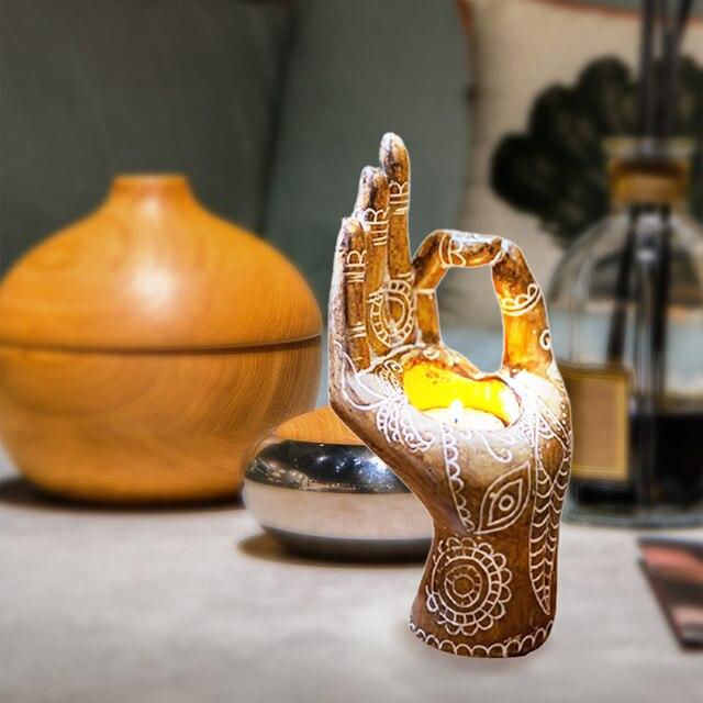 Bergamot Candle Holder Retro Bronze/gold Desktop Decor Candlestick Aromatherapy Candle Holders For Meditation Yoga Art Ornaments 4