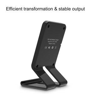 Image 3 - Cargador inalámbrico rápido con soporte de 10W para Samsung Galaxy S10 S9/S9 + S8 Note 9, almohadilla de carga USB Qi para iPhone 11 Pro XS Max XR X 8 Plus