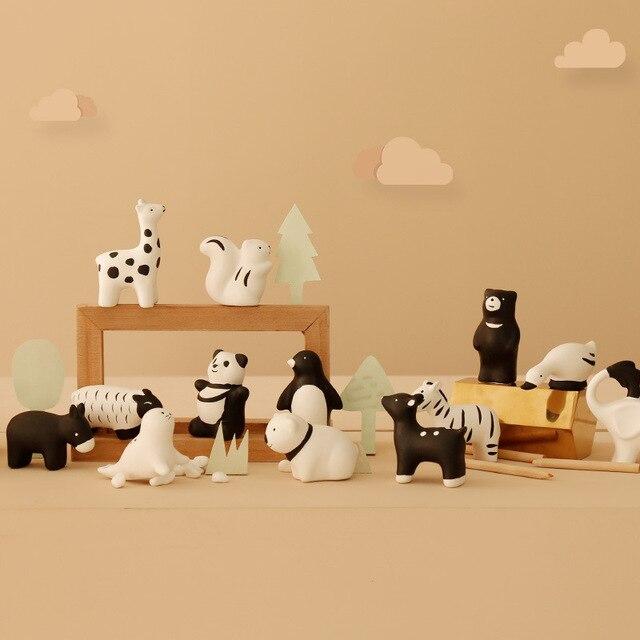 2020 New Creative Ceramic Miniature Figurine Cure Cute Animal Decoration Desktop Small Decoration Home Cute Decoration 4