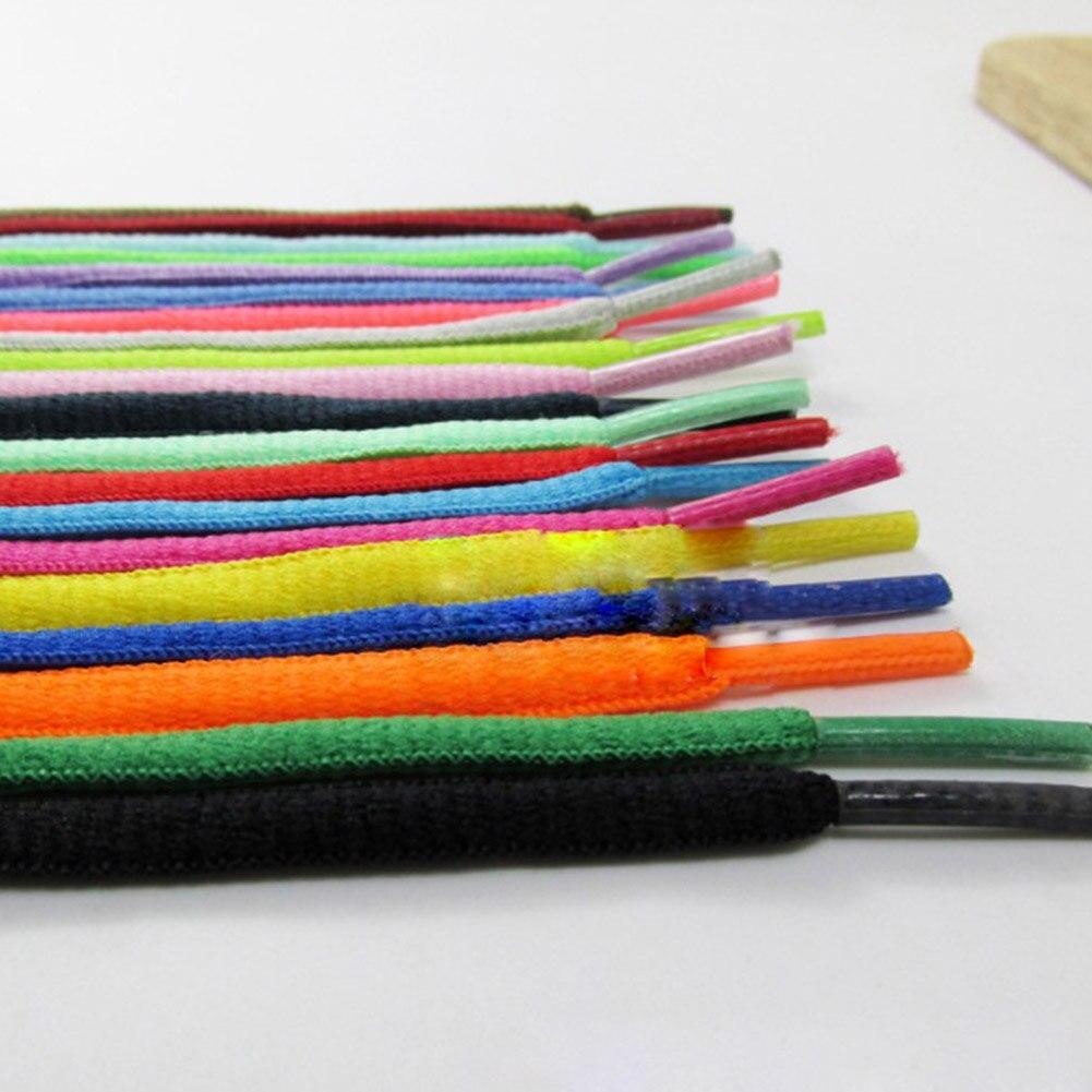 1Pair Oval Sport Shoelaces Unisex Sneaker Boots Shoe Lace Strings Multicolor Casual Shoe Lace Solid Color Elastic Laces Hot Sale