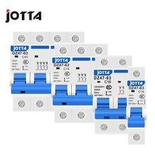 Автоматический мини-выключатель DZ47 1P 2P 3P 4P 6A/10A/16A/20A/32A/40A/50A/63A 400V типа C, MCB 35 мм, монтаж на Din-рейку, мощность разрыва 6KA
