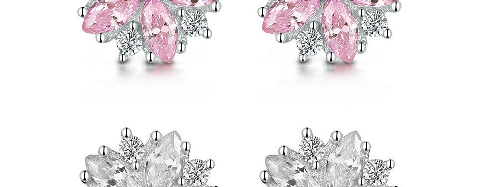 H27c2ab01959d4f0380e3678cf09180f20 - WEGARASTI Silver 925 Jewelry Earrings Woman Pink Cherry Earring 925 Sterling Silver Earrings Wedding Earring