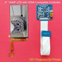6นิ้ว1440P 1440*2560 IPS Wqhd จอแสดงผล HDMI LS060R1SX01สำหรับ Diy 3d เครื่องพิมพ์ VR แว่นตา DLP โปรเจคเตอร์ Raspberry Pi3