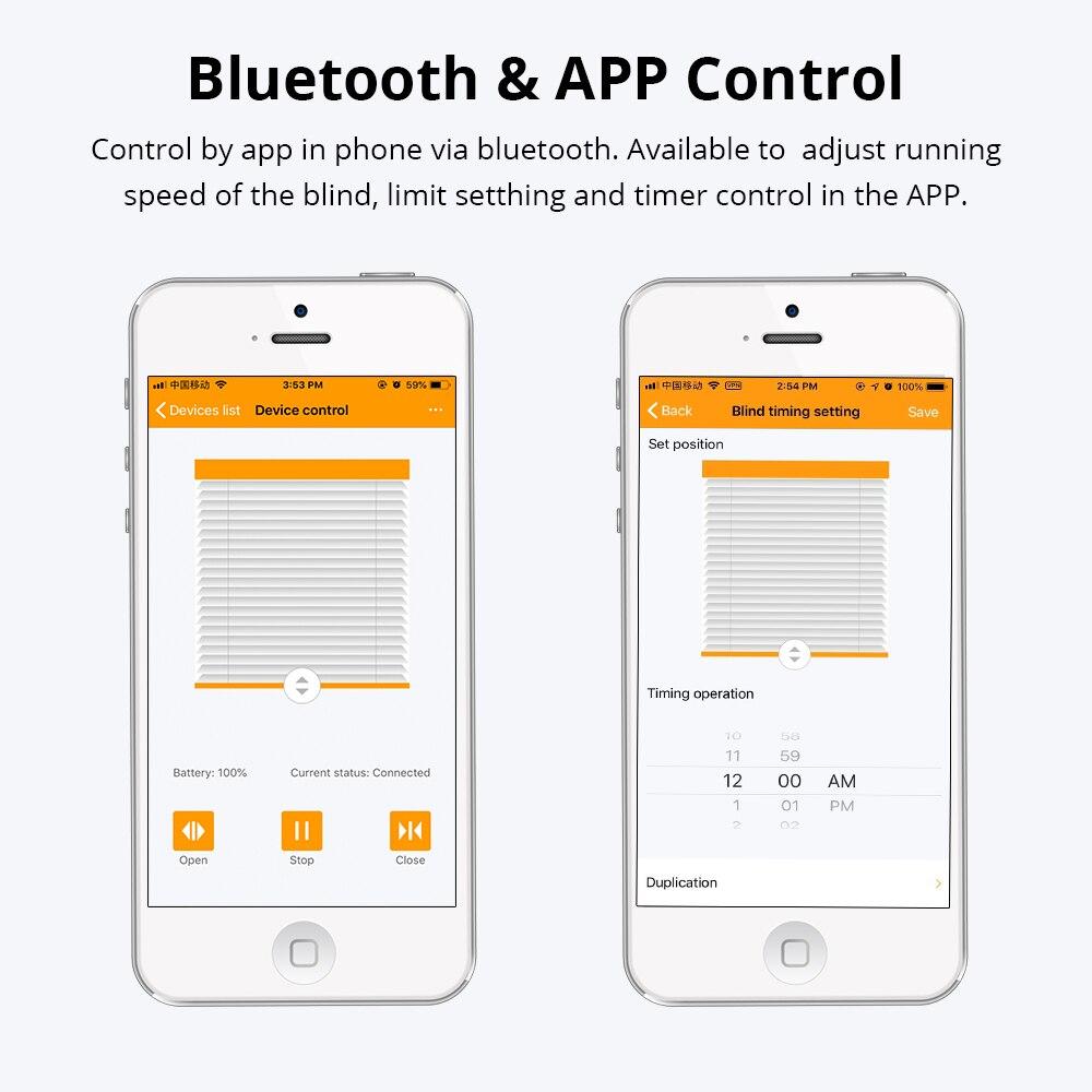 Bluetooth contrôle élégance intelligente moteur à chaîne européenne avec panneau solaire stores rouleau vertical vénitien zèbre aveugle - 2