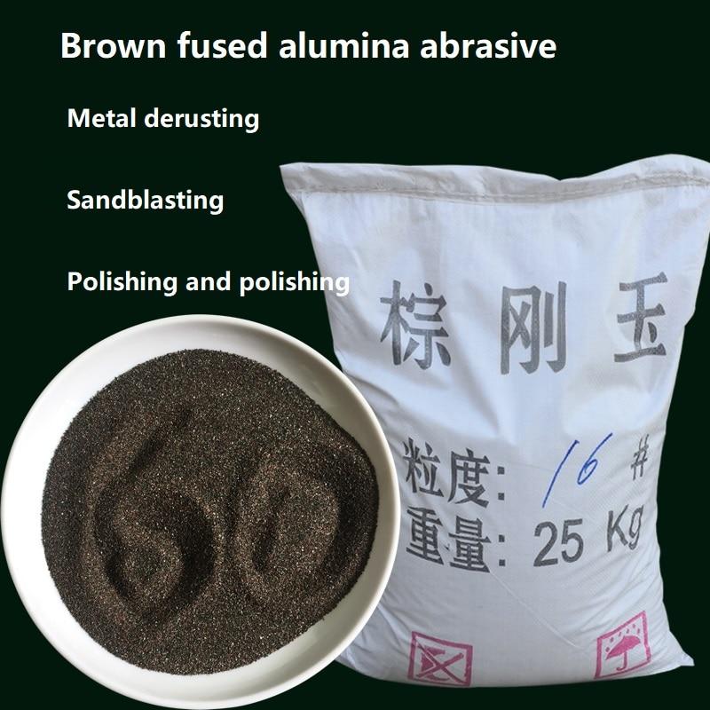 500g brown corindo abrasivo areia jateamento oxidação