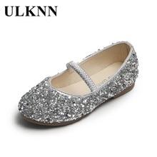 ULKNN filles chaussures en cuir princesse 2021 printemps nouveau antidérapant fond souple résistant à l'usure petit bébé paillettes chaussures pour enfants