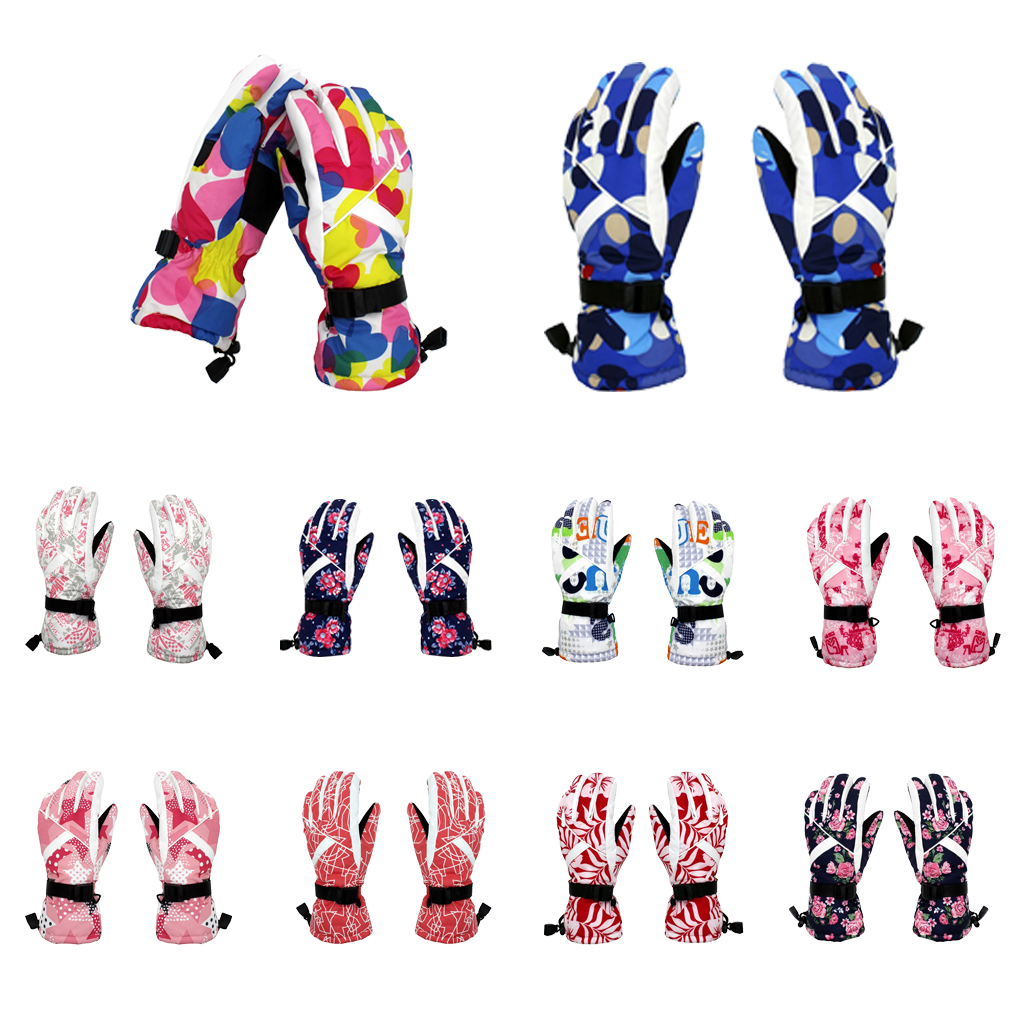 Women's Winter Thermal Warm Waterproof Windproof Snow Snowboard Ski Gloves 10 Colors Women Ski Gloves