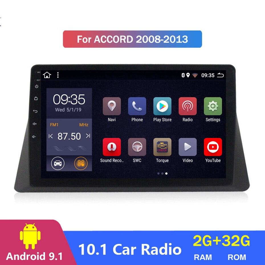 "10.1"" 2Din Android 9.1 Head Unit Car Radio GPS Navi Multimedia car no dvd Player For 2008 2009 2010 2011 2012 2013 Honda accord"