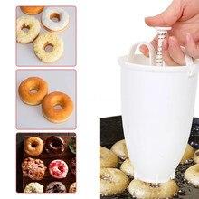 Çörek kalıp plastik kolay hızlı taşınabilir Donut yapma makinesi manuel Waffle dağıtıcı Donut makinesi artefakt kalıp mutfak pişirme araçları