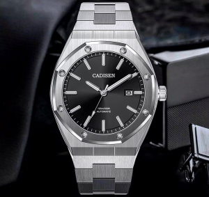 Automatic Men's Watches CADISEN DESIGN Stainless Steel Business Mechanical Watch Top Brand Luxury Fashion Watches For Men 2020