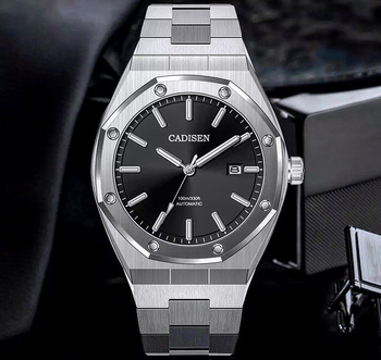 Automatic Men's Watches CADISEN DESIGN Stainless Steel Business Mechanical Watch Top Brand Luxury Fashion Watches For Men 2020 cadisen men automatic mechanical watch top luxury brand seiko nh35a movement stainless steel 50m waterproof curved glass watch