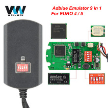 Adblue 9 في 1 كامل رقاقة النسخة Adblue المحاكي 9 في 1 ل اليورو 4 / 5 ل فولفو/DAF شاحنة AdBlue المحاكي مربع 9in1 ل سكانيا
