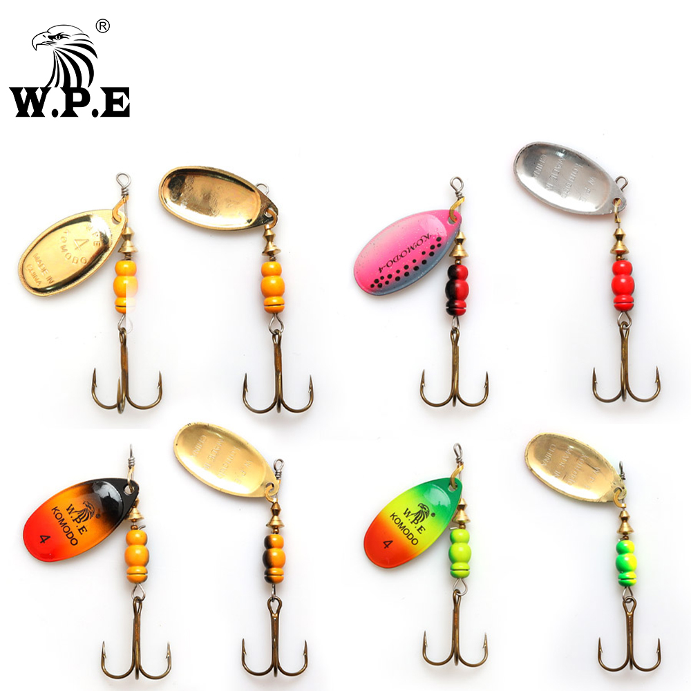 5PCS Fishing Fish Spinner Spinnerbait spoon Lure Feather Hook baits 6.5g