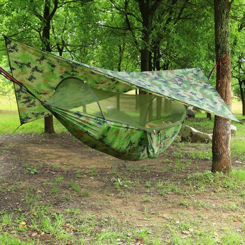 Outdoor Portable Hammock with Mosquito Net and Rain Fly Camping Backpacking Bug Hammocks and Netting Parachute Hammock Canopy|Hammocks| - AliExpress