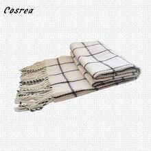 Bufanda de cola de hada para hombre y mujer, disfraz de Cosplay, color blanco y negro, para invierno