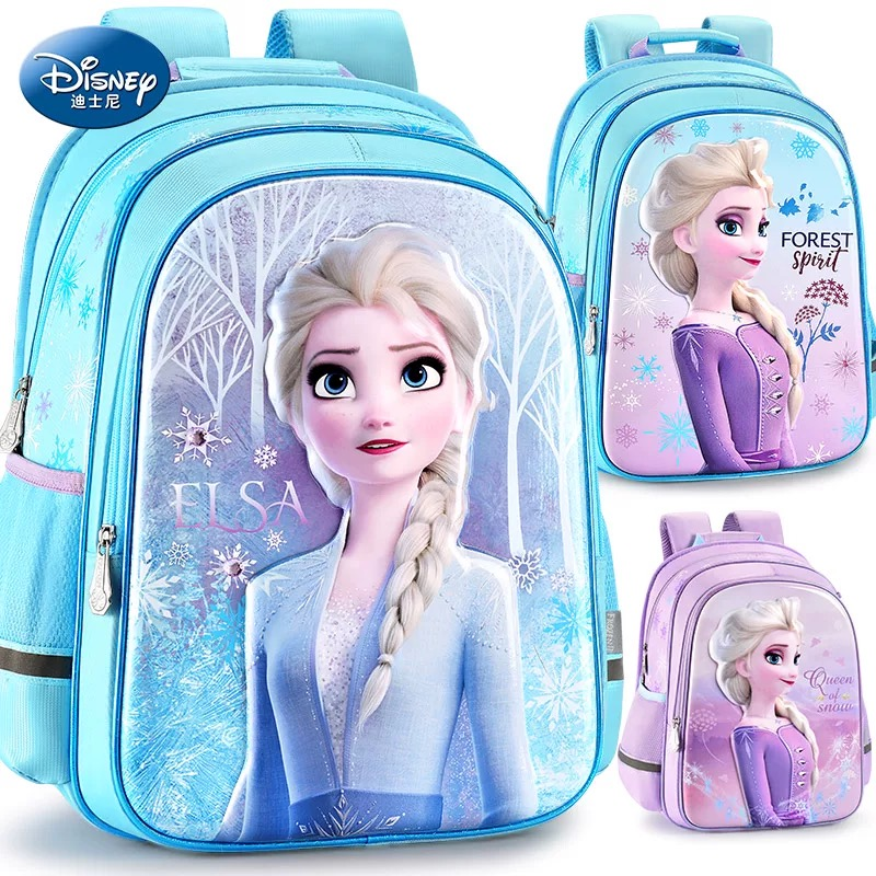 2019 Disney Frozen2 Backpack Elsa Anna Snow Queen Olaf Backpacks Kids Primary School Bag Breathable Backpack Girls Gift