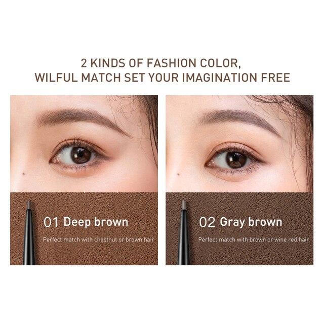 Flamingo Black Fine Professional Eyebrow Pencil Waterproof Long-lasting Waterproof Not Easy to Discolor Eyebrow Brown Gift b1022 1
