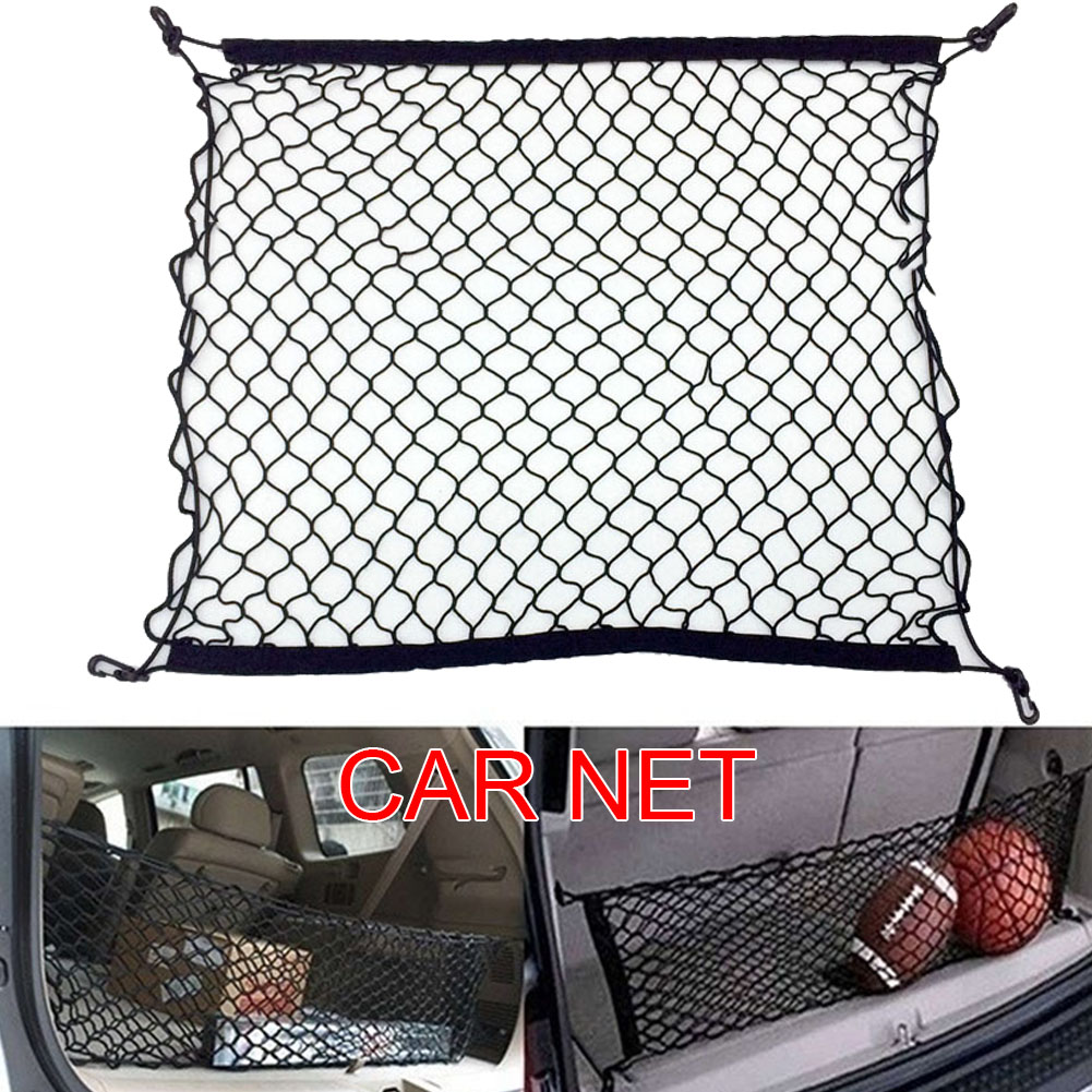 Cargo Net Trunk Organizer Net With 4 Hooks For Suv Pickup Truck