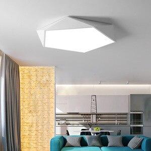 Image 3 - Arte geometrica creativa illuminazione a Led lampada da soffitto per soggiorno lampada studio corridoio balcone illuminazione a soffitto