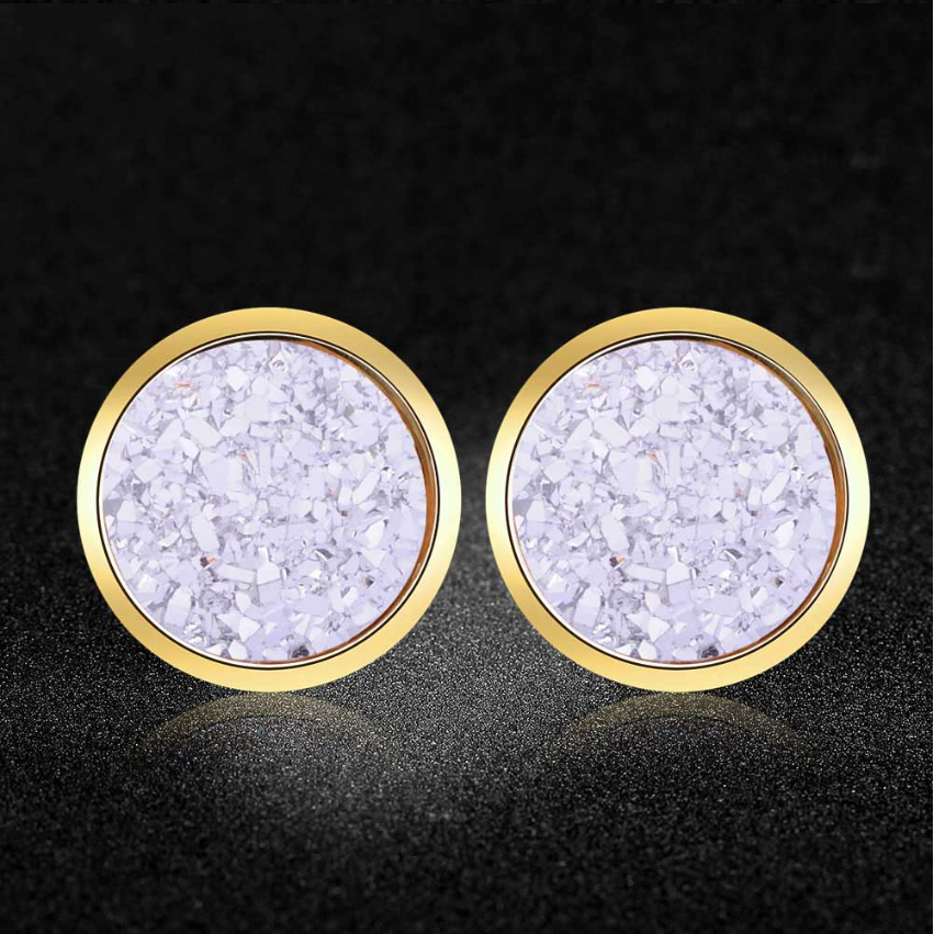Super Fashion Shinning Star Resin Stud Eearrings for Women AAAAA Quality 100% Stainless Steel Ear Stud Jewelry Dropshipping