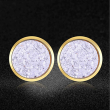 Super Fashion Shinning Star Resin Stud Eearrings for Women AAAAA Quality 100% Stainless Steel Ear Stud Jewelry Dropshipping(China)