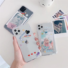 The New cute Cartoon Anti-fall Transparent Polaroid For iphone 7 7plus 8 8Plus iphone X XR 11 pro MA