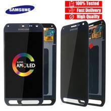 סופר AMOLED 5.1 LCD תצוגה עבור Samsung Galaxy S6 פעיל G890 G890A LCD עם מסך מגע Digitizer החלפת חלקים
