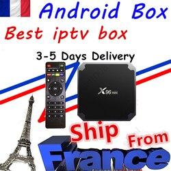 Best iptv box x96mini android 9.0 tv box 1G 8G 2G-16G smart tv media player x96 mini decoder ship from france