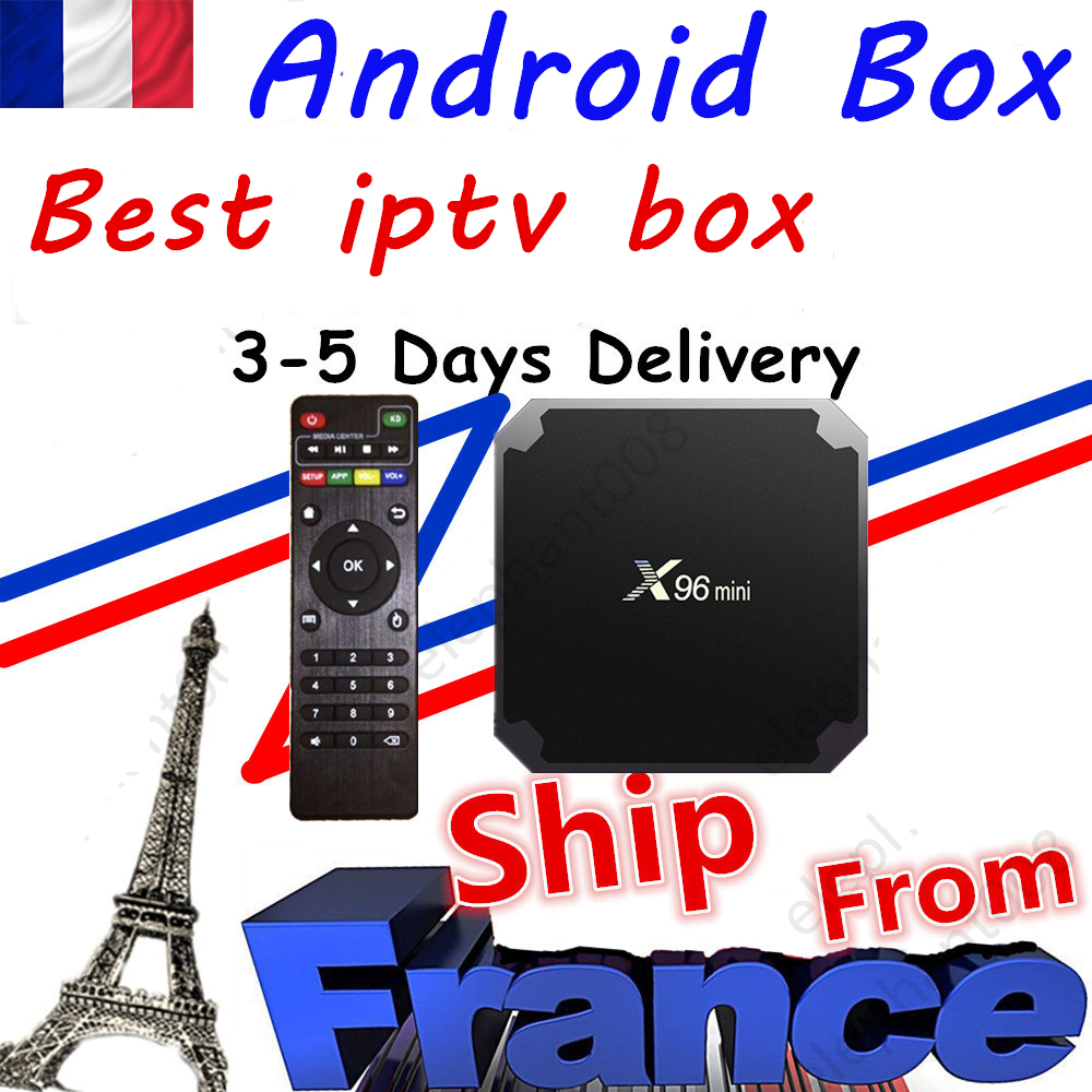 Лучшая ip ТВ-приставка x96mini android 9,0 ТВ-приставка 1 ГБ 8 ГБ 2 ГБ-16 Гб Смарт ТВ Медиаплеер x96 мини декодер Доставка из Франции